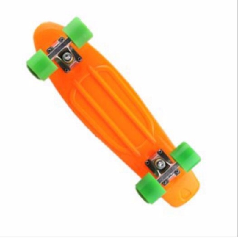 Qizhef22 inch fish plate are single - Four Wheel Scooter Skate Scooter(orange) - intl