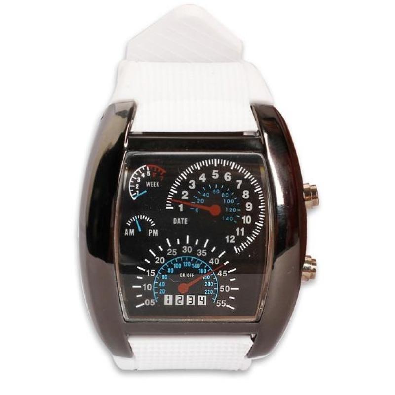 Bảng giá Stylish Men RPM Turbo Blue Flash Sports Car Meter Dial Wrist Watch - intl