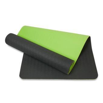 Thảm tập yoga 8mm 2 lớp TPE (Xanh rêu)