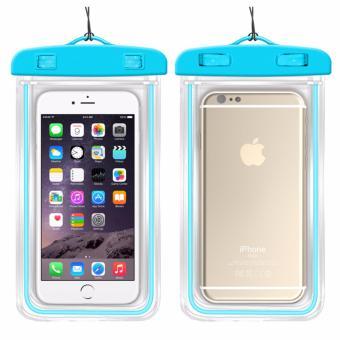 Túi chống nước an toàn cho điện thoại Iphone 5/6/6Plus (Xanh datrời)
