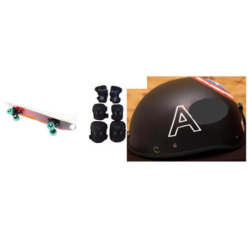 ván trượt thể thao tặng kèm mũ bảo hiểm và bộ bảo hộ tay chân