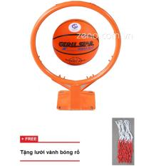 Giá Niêm Yết vành bóng rổ 40cm + quả bóng rổ gerustar số6