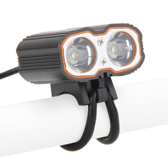 Waterproof Front Lamp 6000LM 2x CREE XM-L T6 USB LED Bike BicycleLight - intl