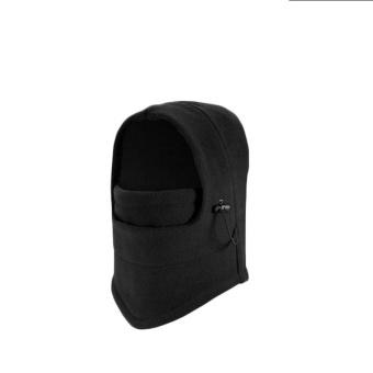 Winter outdoor double windproof fleece mask cover black - intl