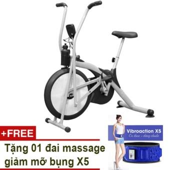 Xe đạp Air Bike (Xám) + Tặng đai massage giảm mỡ bụng X5