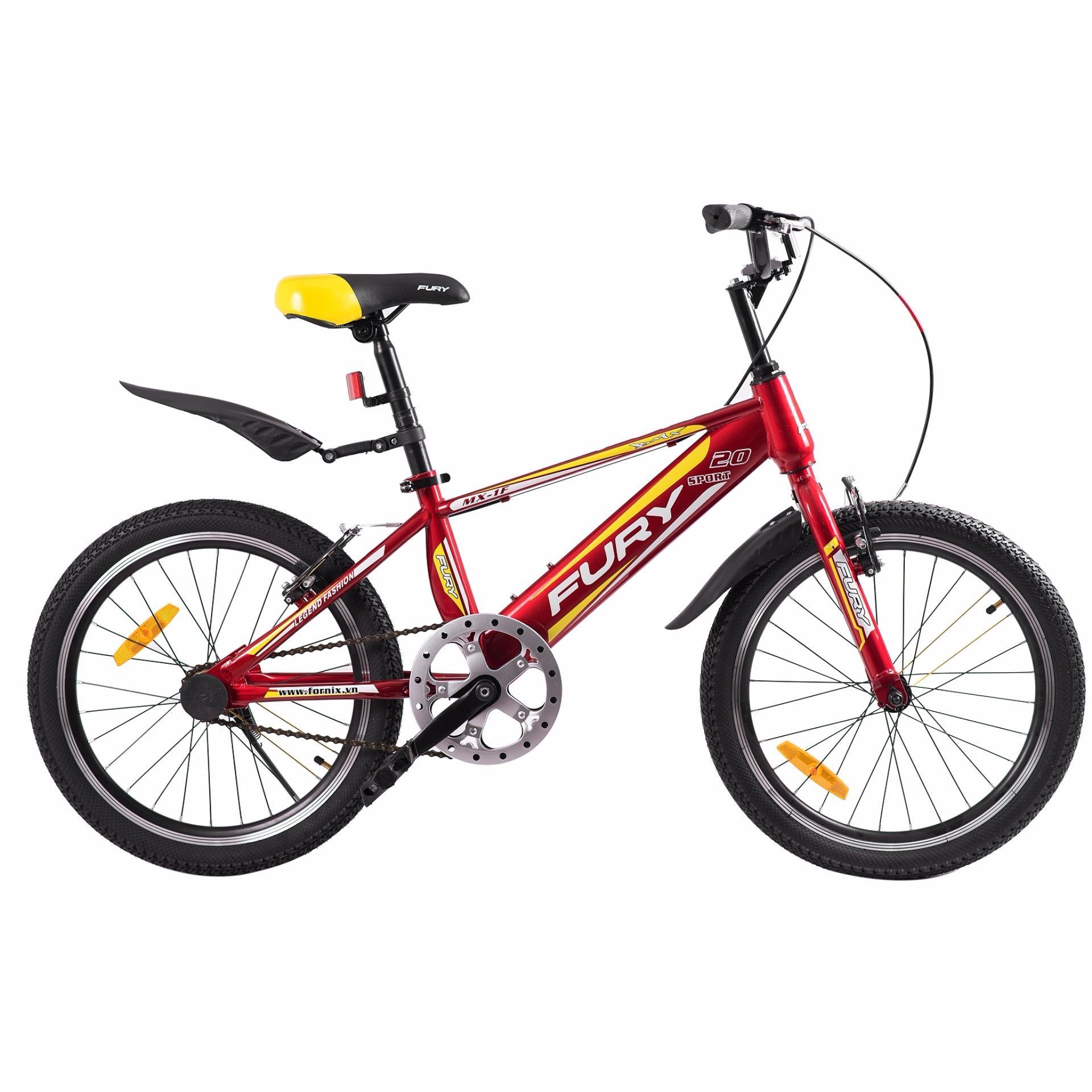 Xe đạp BMX, hiệu FURY, mã MX-1F ( đỏ vàng )