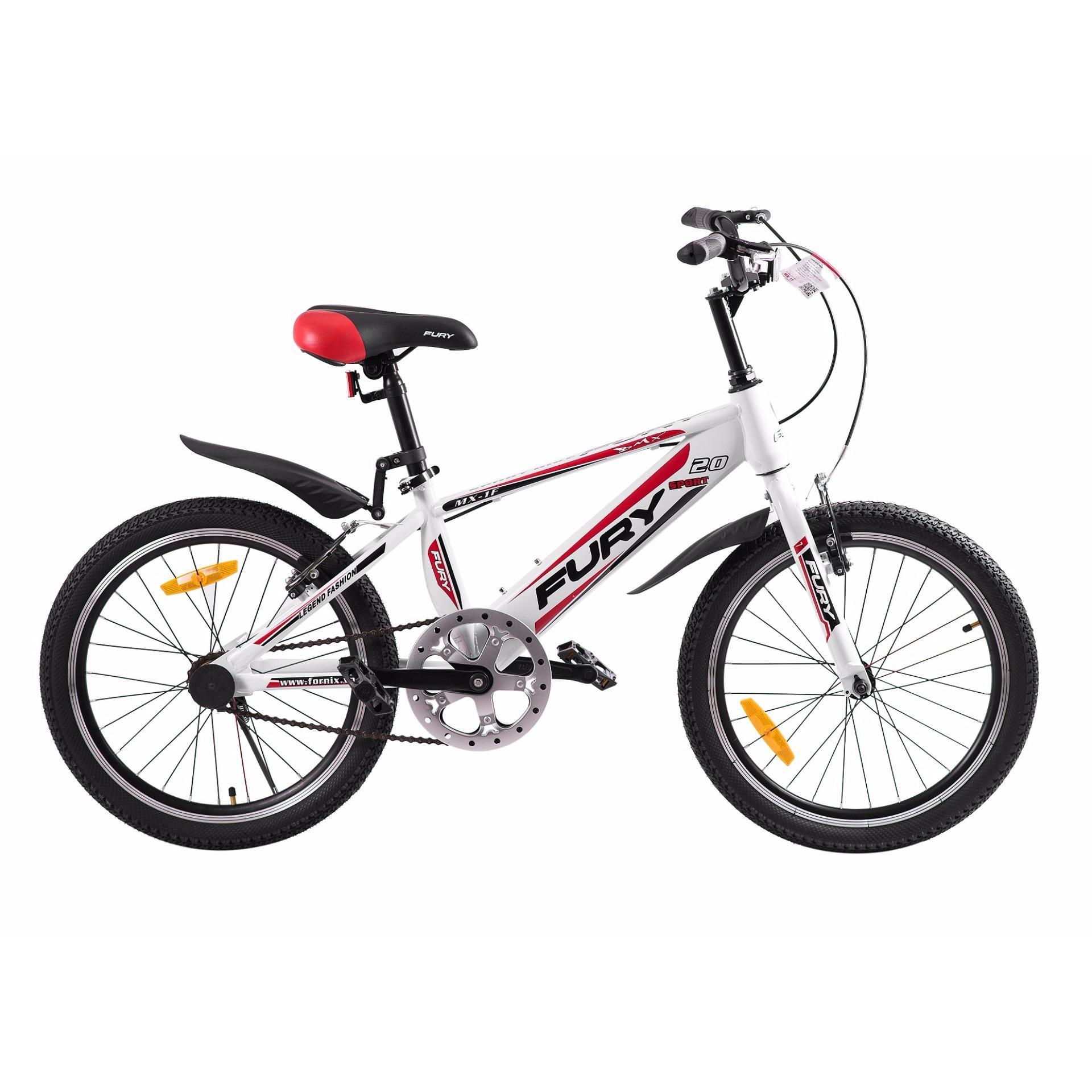 Xe đạp BMX, hiệu FURY, mã MX-1F ( trắng đỏ )