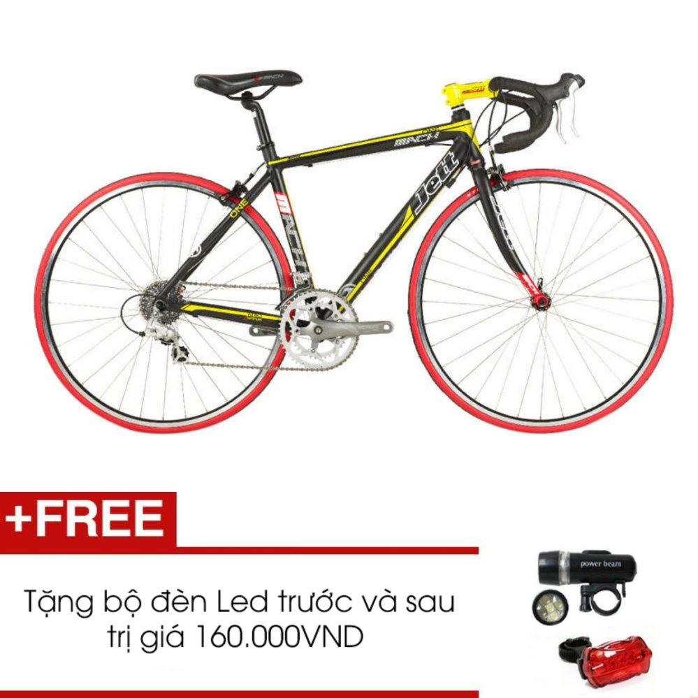 Xe đạp đua JETT MATCH 1.0 BLK (Đen) + Tặng 1 bộ đèn Led trước và sau