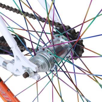 Xe đạp Fixed Gear Single Cổ Chữ A New 2017 Căm bảy màu (Trắng)