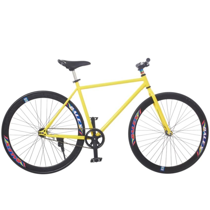 Xe đạp Fixed Gear Single (Vàng phối đen)