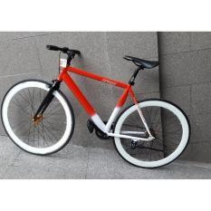 Xe đạp FixedGear FORNIX-BF100 (Đỏ trắng)