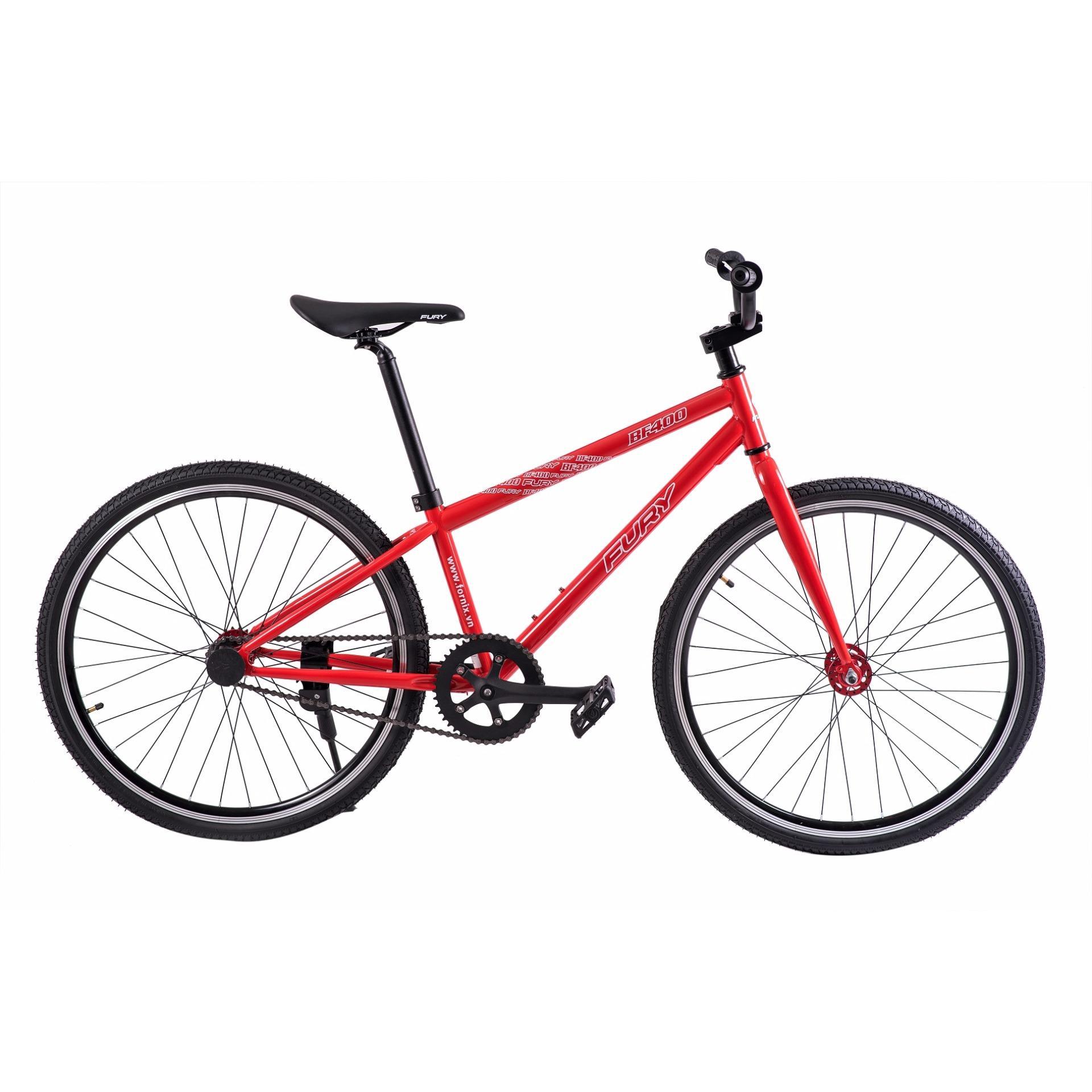 Xe đạp FixedGear, hiệu FURY, mã BF400 ( đỏ )