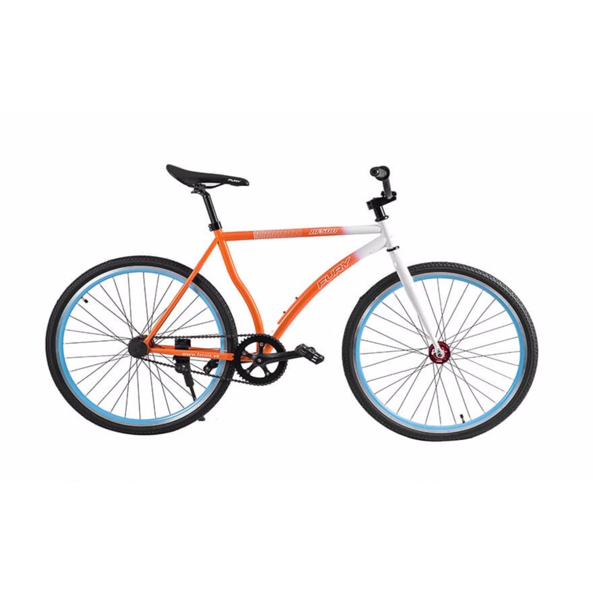 Xe đạp FixedGear, hiệu FURY, mã BF500 ( cam )
