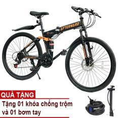 Xe đạp gấp địa hình AfterWard (đen) + Tặng 01 khóa chống trộm và bơm xe