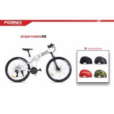 Xe đạp gấp địa hình thể thao Fornix F3 (trắng xanh)+ tặng nón bảo hiểm