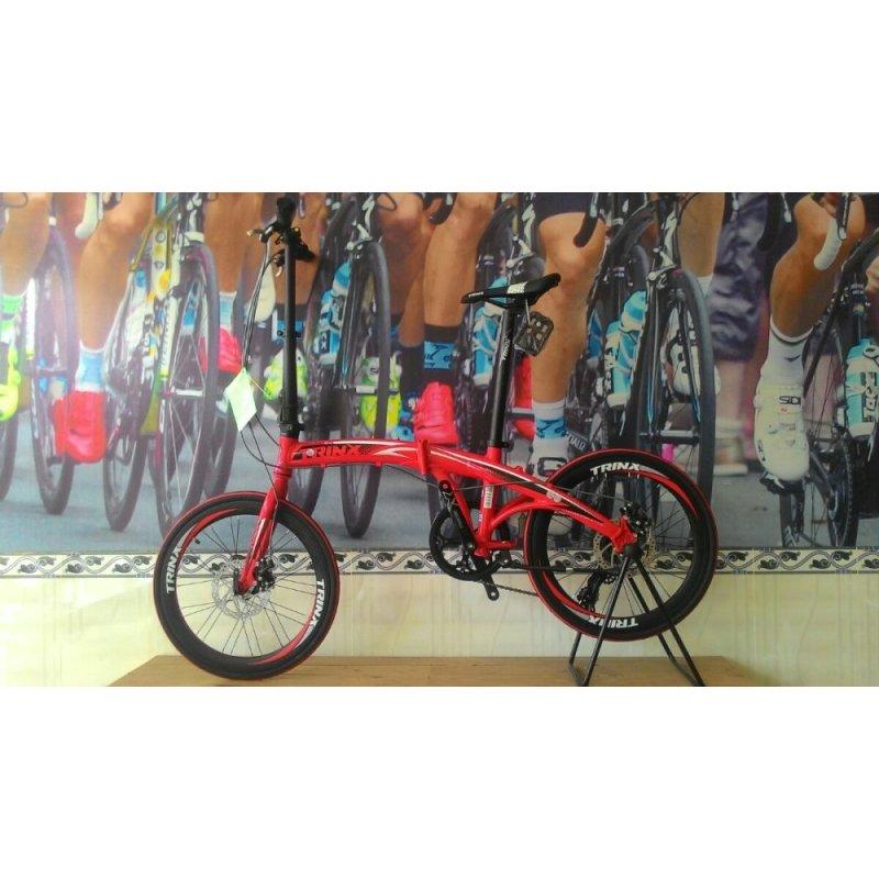 Mua Xe đạp gấp TRINX DOLPHIN2.0 2016 (đỏ đen trắng)