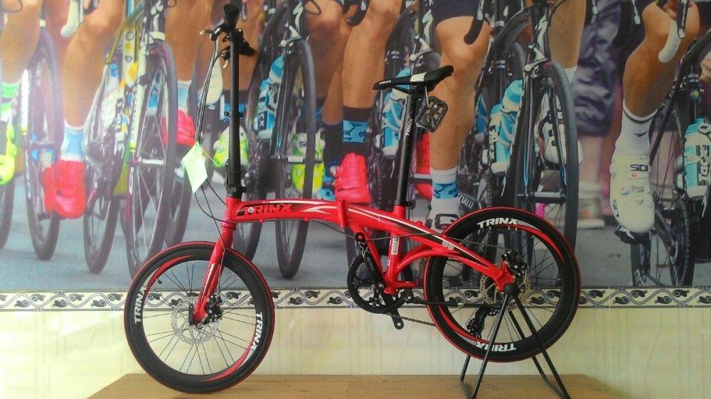 Xe đạp gấp TRINX DOLPHIN2.0 2016 (đỏ đen trắng)