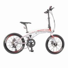 Xe đạp gấp TRINX DOLPHIN3.0 2016 (Trắng đỏ)