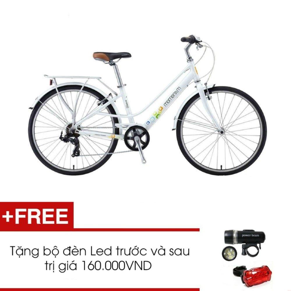 Xe đạp GIANT MOMENTUM INEED 1500 (Trắng) + Tặng 1 bộ đèn Led trước và sau