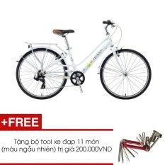 Xe đạp GIANT MOMENTUM INEED 1500 (Trắng) + Tặng 1 bộ Tool xe đạp 11 món màu sắc ngẫu nhiên