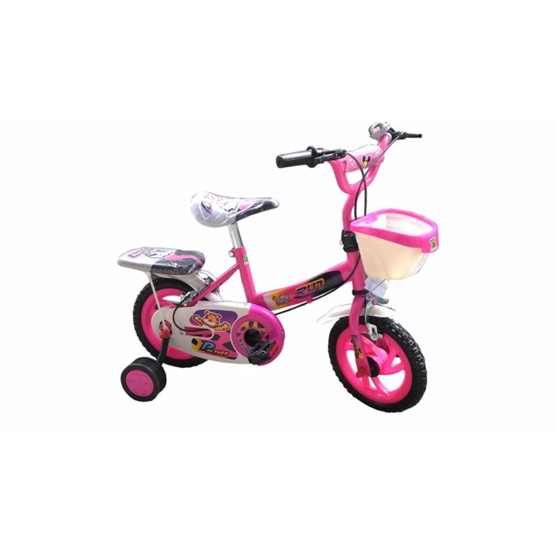 Xe đạp hai bánh kèm bánh phụ cho bé gái