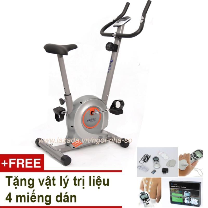 Bảng giá Xe đạp tập thể dục Air Bike AB-01 (Xám) + Tặng vật lý trị liệu 4 miếng dán