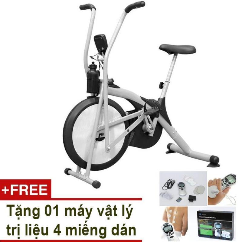 Bảng giá Xe đạp tập thể dục Air Bike (Xám) + Tặng vật lý trị liệu 4 miếng dán