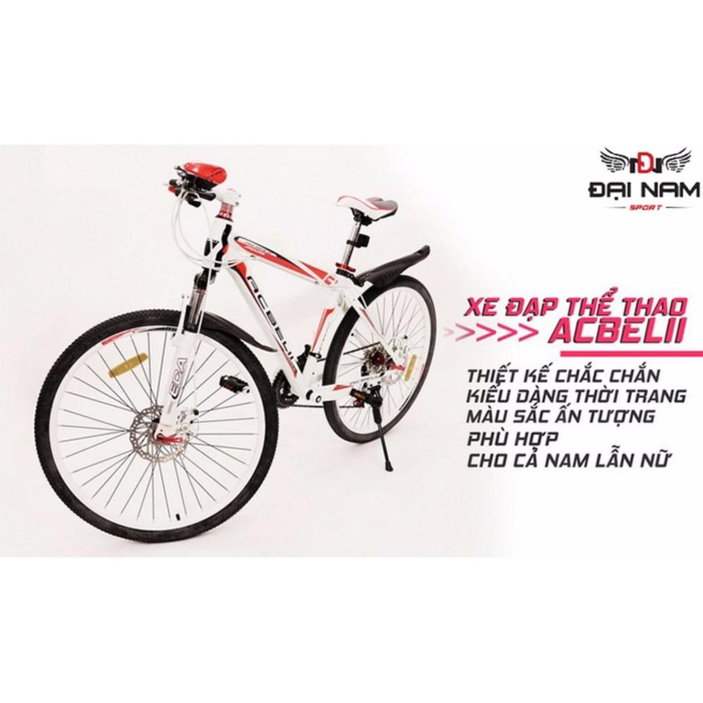 Xe đạp thể thao địa hình đường trường cao cấp ACBElI (Đỏ trắng)