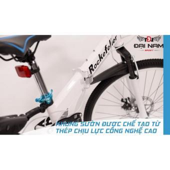 Xe đạp thể thao đường trường gấp gọn cao cấp Rockefeller (Màu trắng)