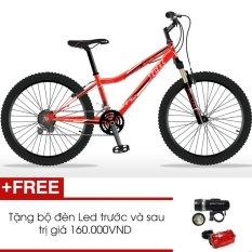 Xe đạp thể thao Jett Viper Red 2015 (Đỏ) + Tặng 1 bộ đèn Led trước và sau