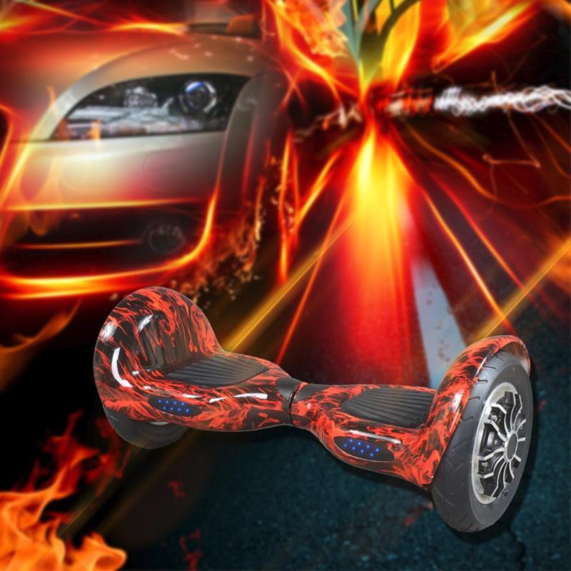 Xe điện tự cân bằng Bluetooth 10 inch đỏ