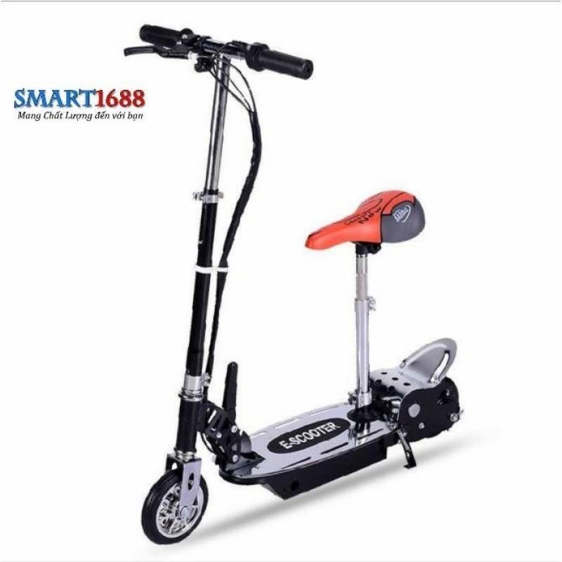 Giá bán Xe scooter điện E-Scooter 15km/h, tải trọng 80kg, 120w chất liệu cao cấp (Đen)