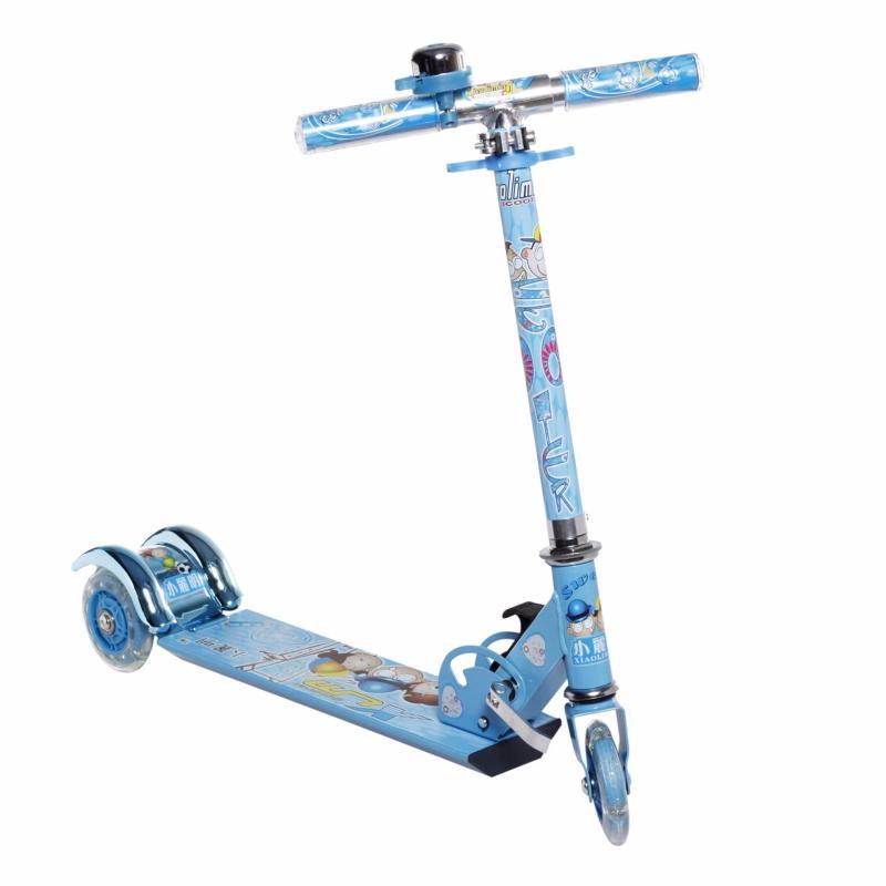 Xe trượt scooter 3 bánh phát sáng có đèn màu xanh dương