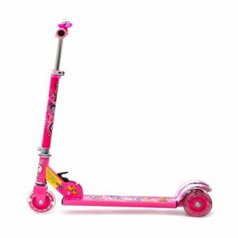 Xe trượt Scooter chòi chân có bánh phát sáng (Hồng)