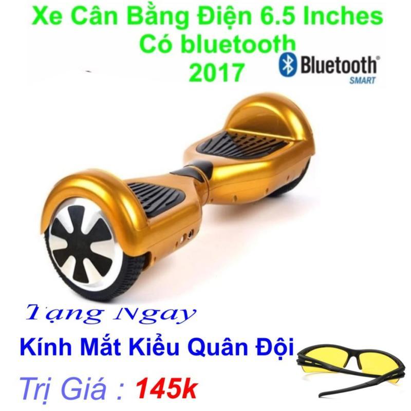 Xe Tự cân bằng điện 6.5 inches Có bluetooth 2017(Vàng) Tặng Ngay Kính Mắt kiểu Quân Đội Trị Giá 169k