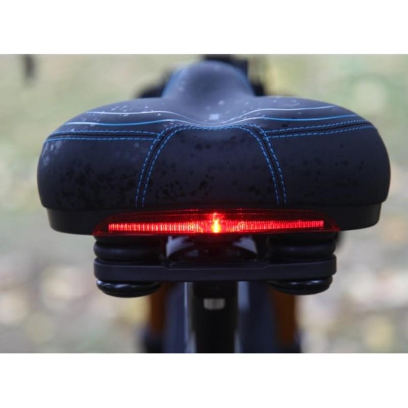 Mua yên xe đạp siêu êm tích hợp đèn cảnh báo an toàn cho người điều khiển