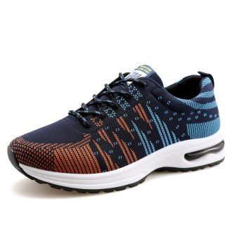 ZUNCLE Men's Casual Sports Breathable Shoes (Blue) - intl