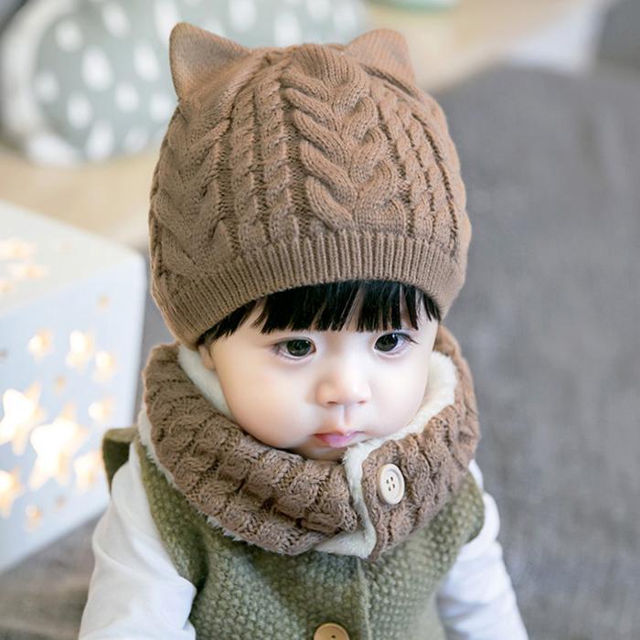 Hình ảnh [CAM KẾT CHẤT ĐẸP] Bộ khăn ống + mũ len có lớp lông bên trong cực ấm cho bé từ sơ sinh đến 5 tuổi, mũ len 2 lớp cho bé trai và bé gái