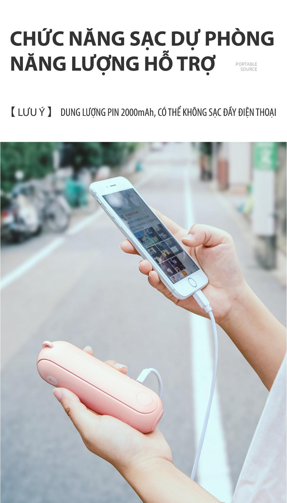 60ec2215cb720bc2aeab3416332cd1b3 - Xiaomi Bear Mini Fan cao thủ về pin trong làng quạt cầm tay