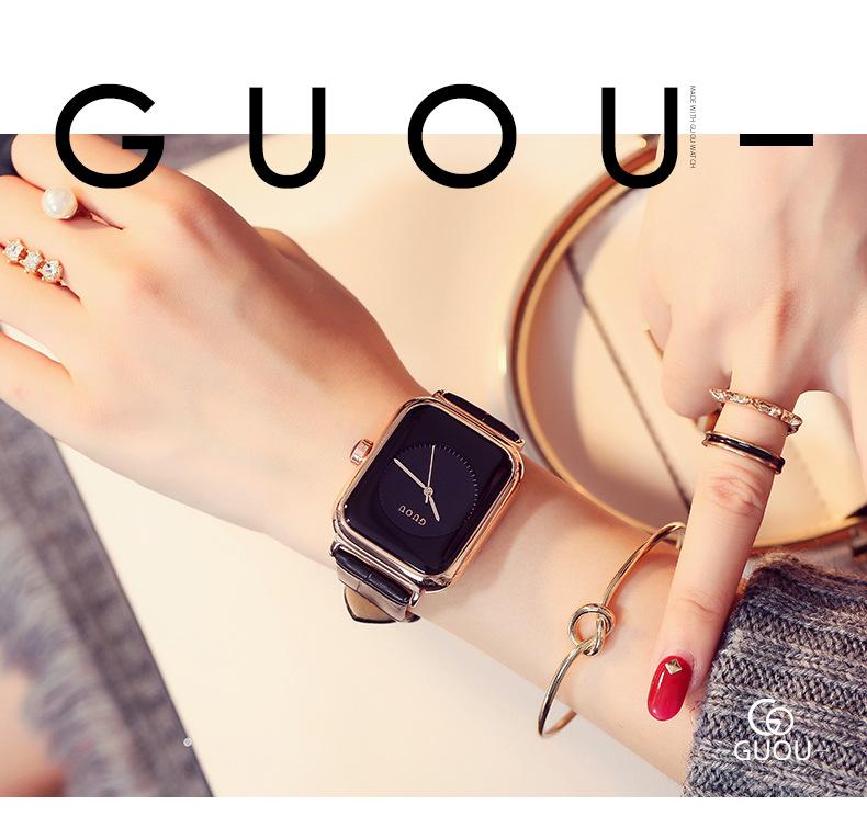 Đồng hồ Nữ GUOU Dây Mềm Mại đeo rất êm tay, Chống Nước Tốt, Bảo Hành Máy 12 Tháng Toàn Quốc 11