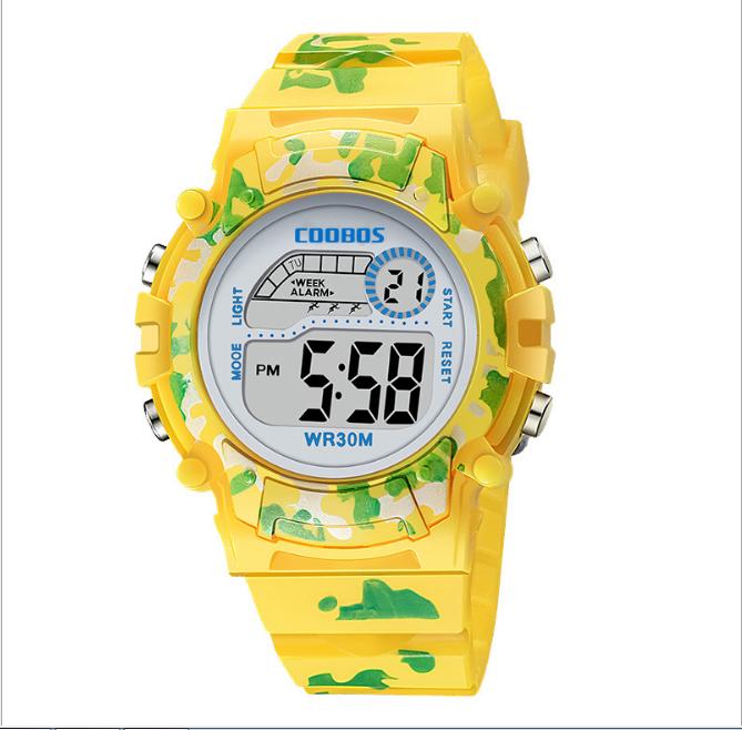 [MIỄN PHÍ GIAO HÀNG] Đồng hồ trẻ em đa chức năng kết hợp hiệu ứng đèn Led chính hãng Coobos, chống trầy xước, chống nước tốt, bảo hành 2 năm 3