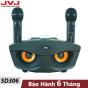 Loa hát karaoke Bluetooth JVJ SD306 kèm 2 micro - Micro Không dây, hỗ trợ hiệu ứng âm thanh, công suất loa lớn, Bass cực chuẩn hỗ trợ cổng cắm thẻ nhớ, jack 3.5mm tương thích với mọi thiết bị, BH 6T