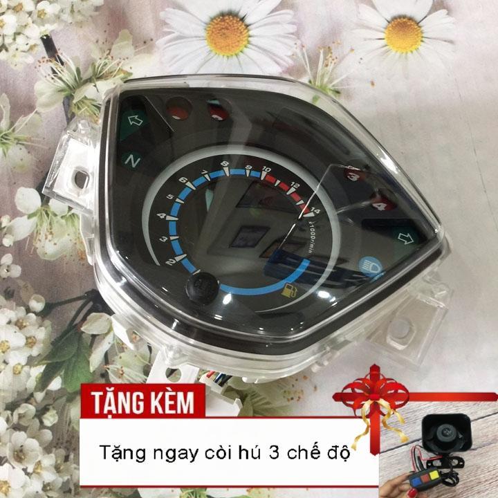 [SIÊU BÃO SIÊU BÃO]Đồng hồ điện tử LCD xe Wave RSX, Wave 110 với led 7 màu siêu nét A284 - Tặng kèm còi hú