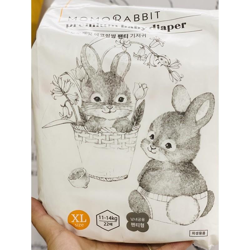 Bỉm dán/ bỉm quần Momo Rabbit đủ size dán S50, M44, L40, XL36 size quần L28, XL22,XXL18