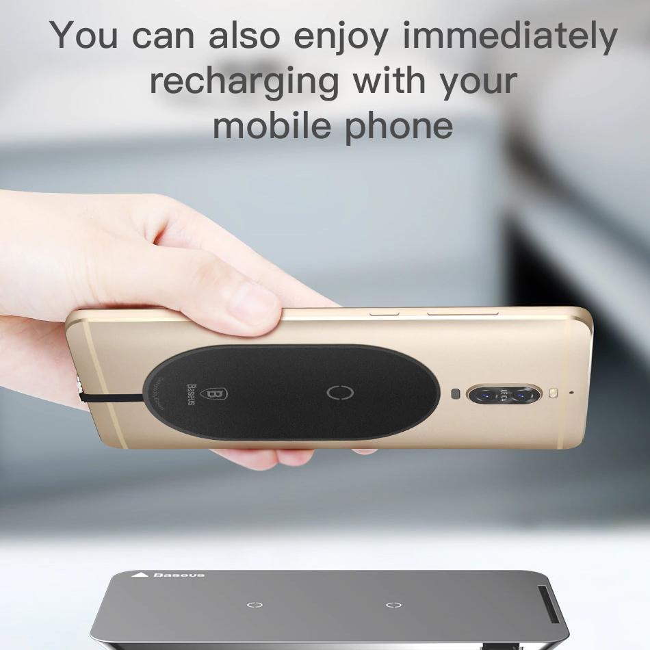 Miếng dán  Baseus hỗ trợ  tính năng sạc không dây  chuẩn Qi cho Smartphone có cổng Micro USB