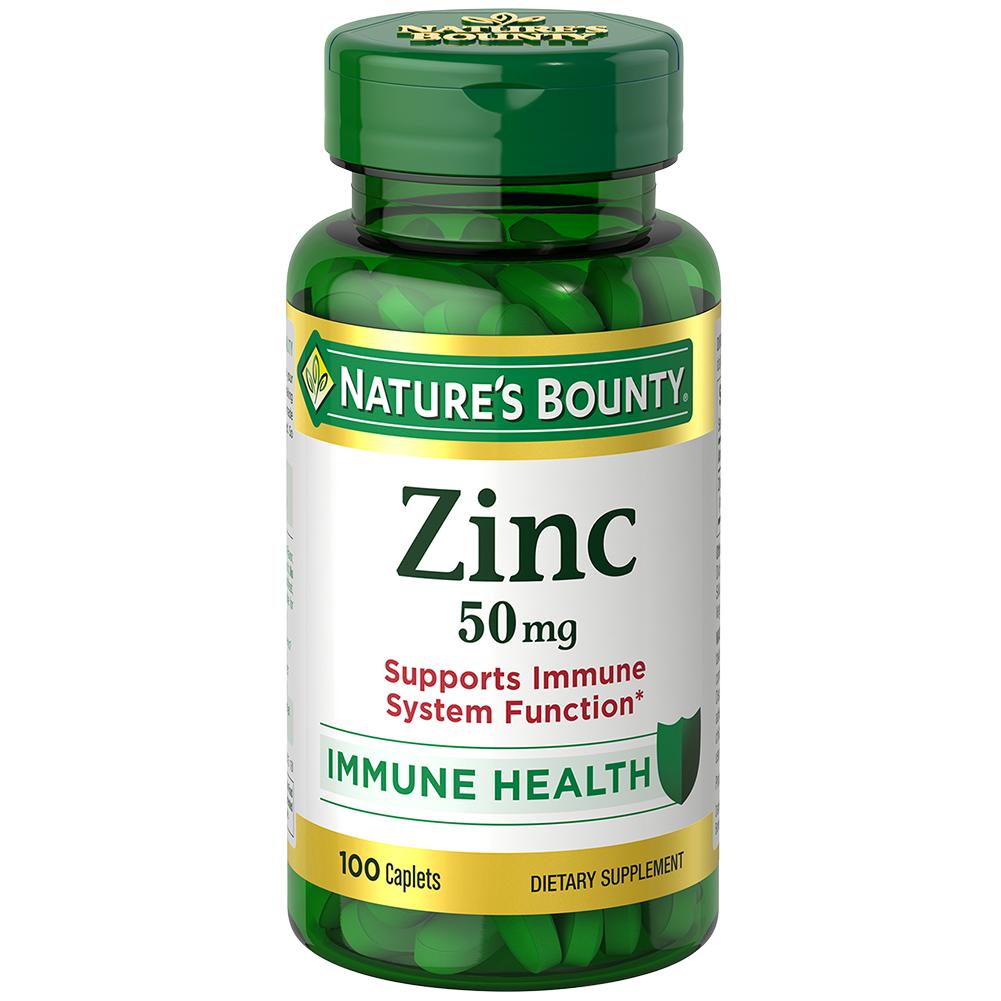 Viên uống bổ sung kẽm tăng miễn dịch Nature's Bounty Zinc 50mg, 100 viên