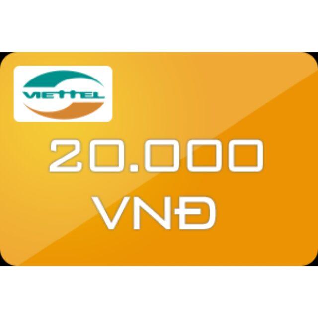 Thẻ cào Viettel 20k