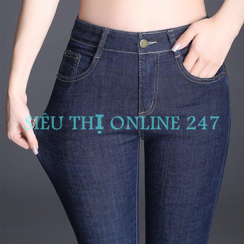 Quần Jean Nữ Thời Trang ST XANH BỐ (10) (Có Size Đại) - Hoặc Áo Thun Trắng