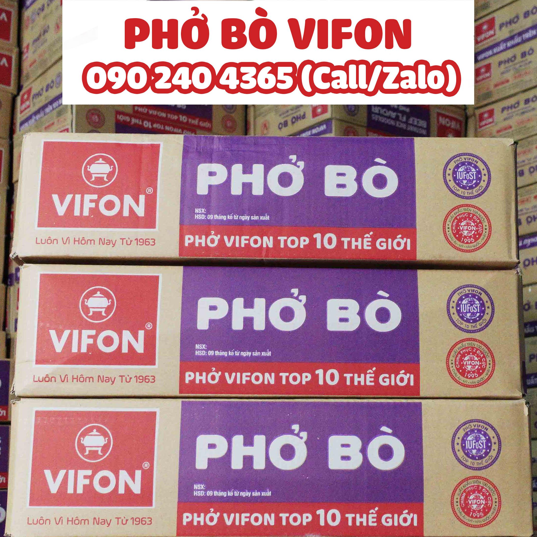 THÙNG PHỞ BÒ VIFON - 30 GÓI