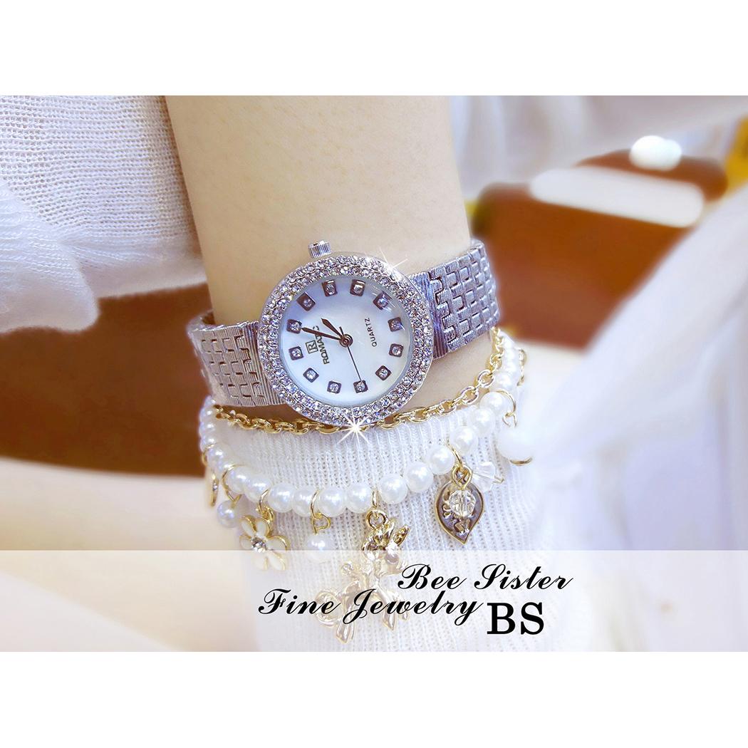 Đồng hồ nữ ROMATIC Mặt Xà Cừ Nhỏ Xinh Sang Trọng - Máy Nhật cao cấp - Tặng Kèm Pin ĐH Dự Phòng 7